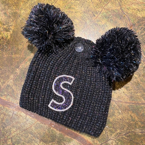 'Justice' Patchwork Initial 'S' Beanie NWT
